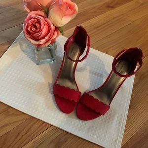 Worthington red heels, 2 1/2 inch heel, size 8